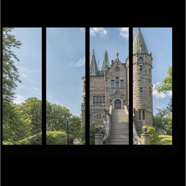Модульная картина Замок в Швеции