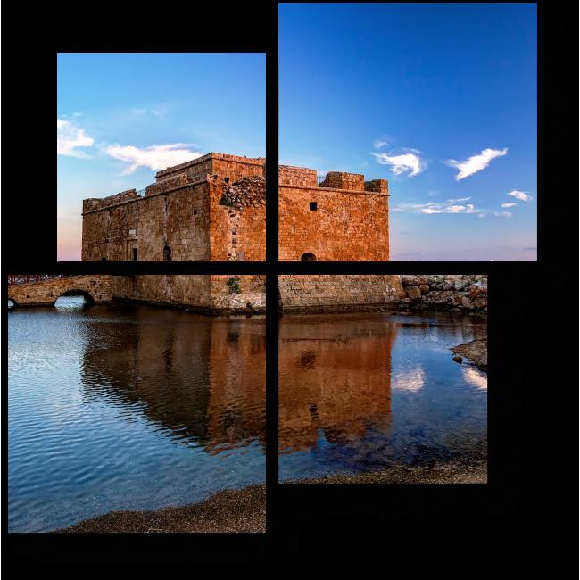 Модульная картина Замок Пафоса