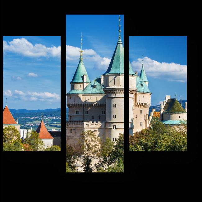 Модульная картина Замок в Словакии