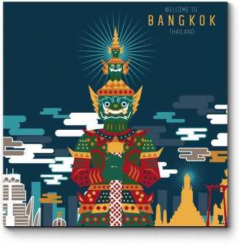 Модульная картина Векторный Бангкок