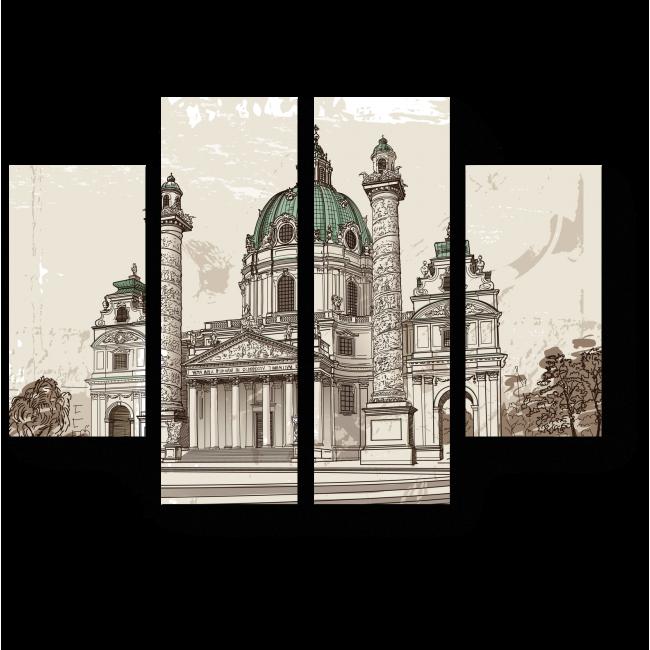 Модульная картина Собор Святого Петра, Ватикан, Рим