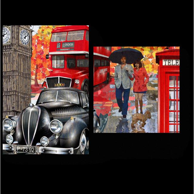 Модульная картина Осенний Лондон