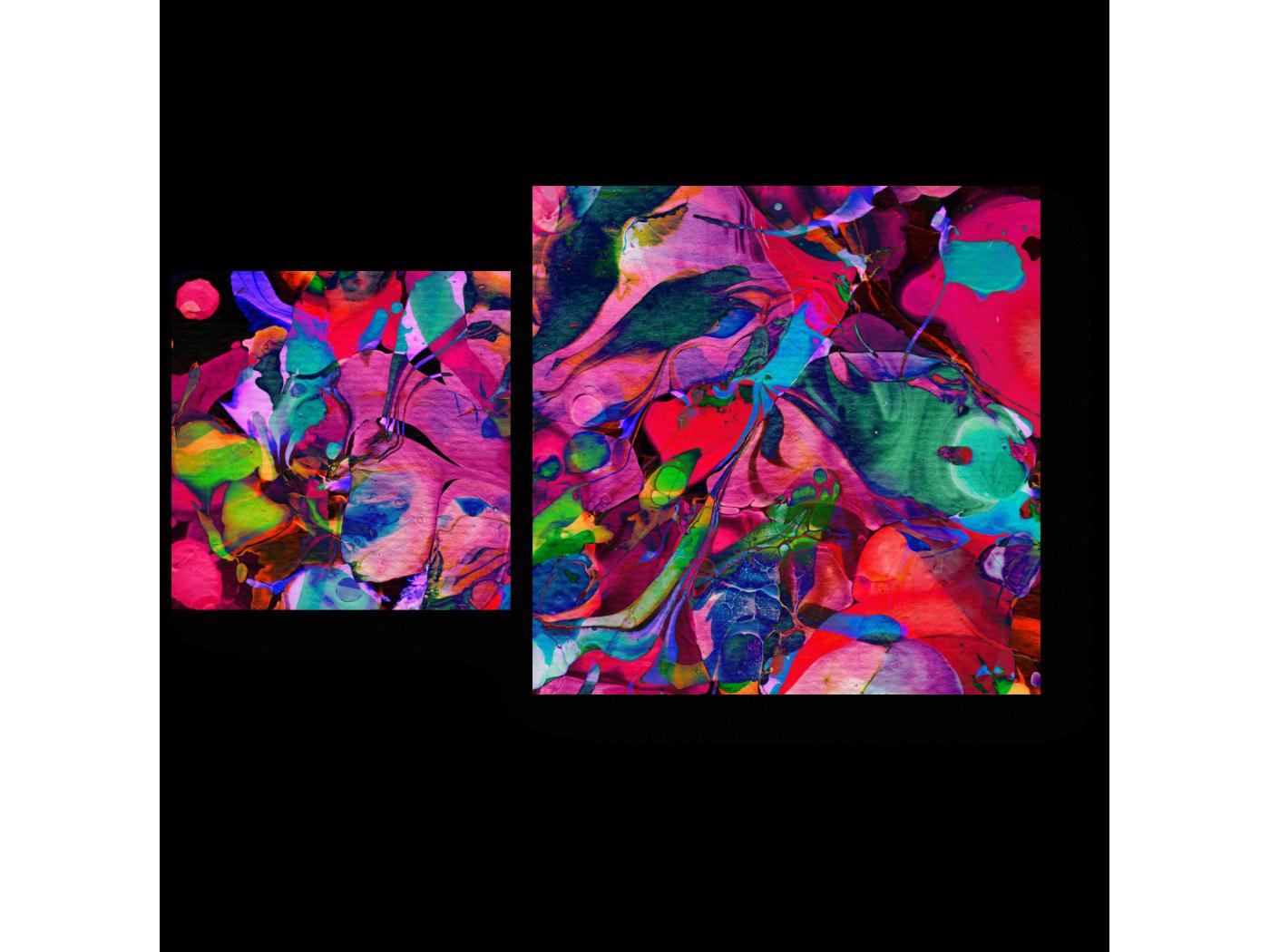 Модульная картина Буйство красок (50x30) фото