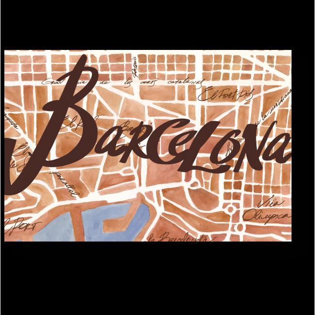 Модульная картина Карта испанской столицы