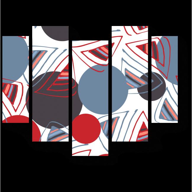 Модульная картина Серое и красное