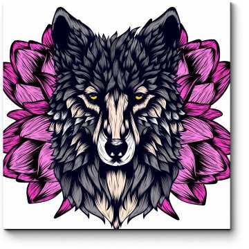 Модульная картина Фантазийный портрет волка