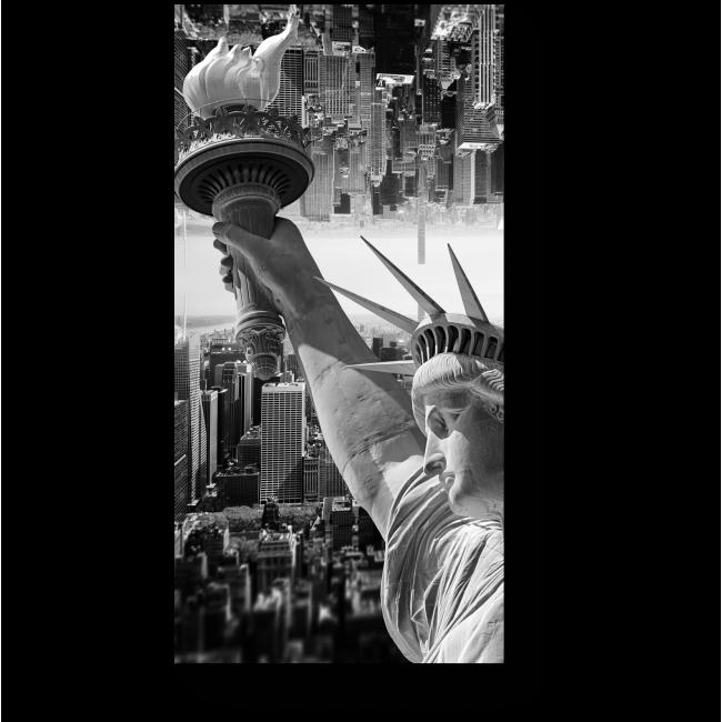 Модульная картина Монохромная Статуя Свободы