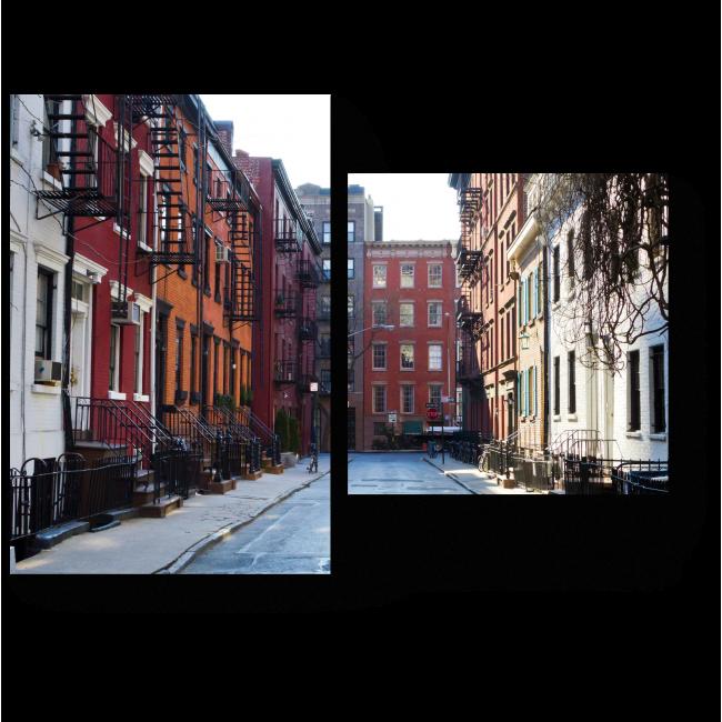 Модульная картина Улочки Нью-Йорка