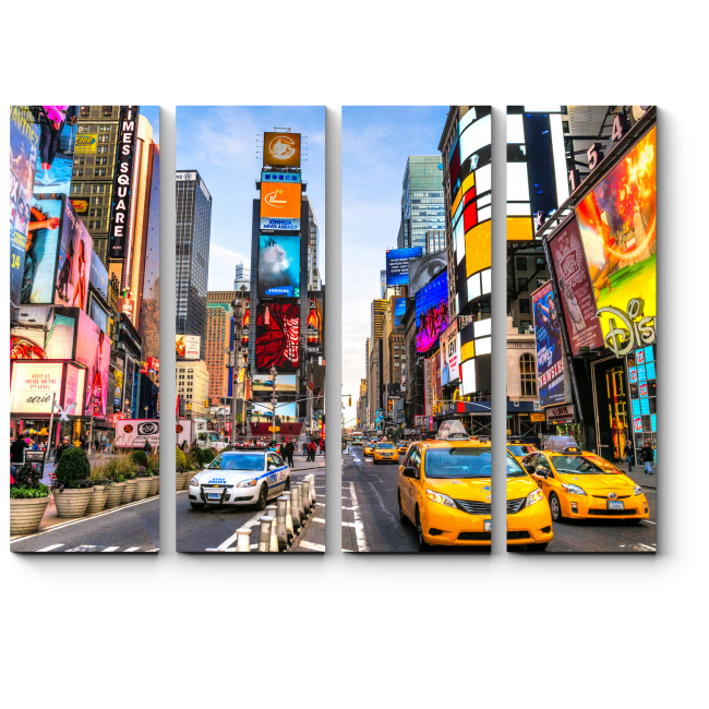 Модульная картина В Нью-Йорке кипит жизнь