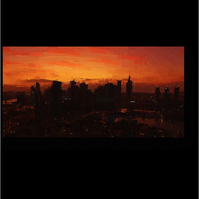 Модульная картина Дубай глазами влюбленного художника