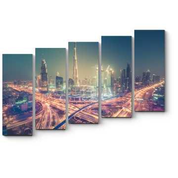 Ночные огни Дубая