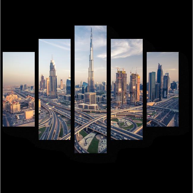 Модульная картина Небоскребы Дубая