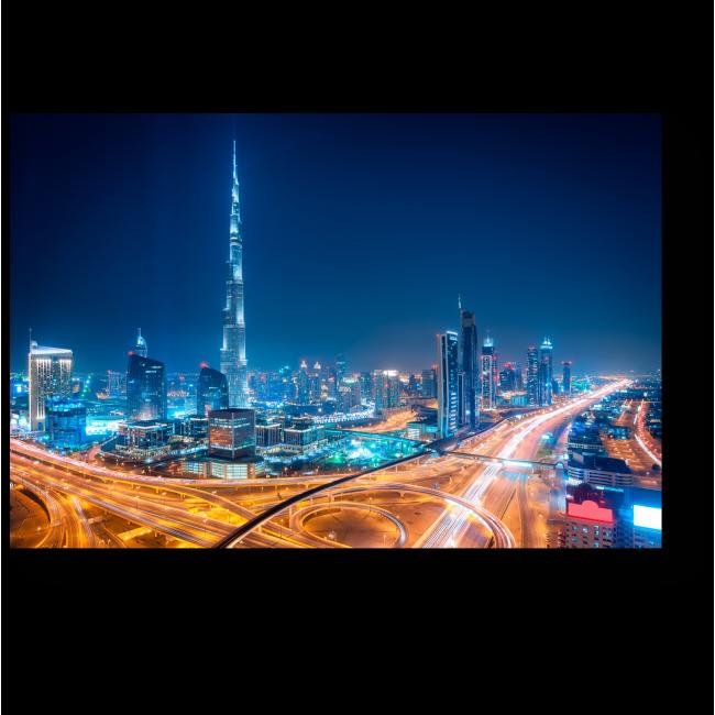 Модульная картина Ночь в Дубае