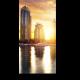 Небоскребы Дубая в утренних  лучах солнца