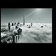 Крыши Дубая над облаками
