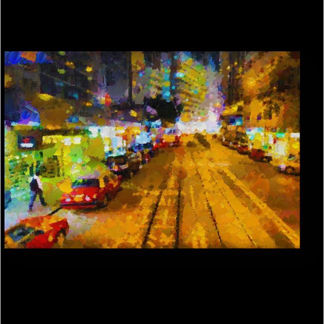 Модульная картина На улицах Гонконга