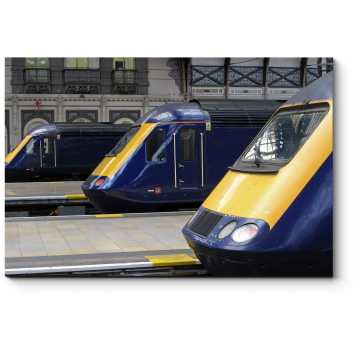 Модульная картина Самый быстрый дизель-локомотив в мире