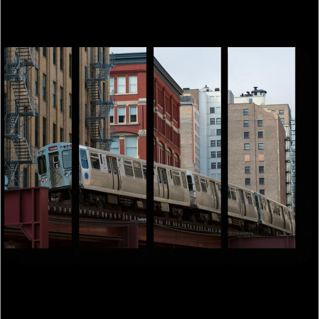 Модульная картина Поезд в Чикаго