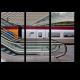 Эскалатор и поезд
