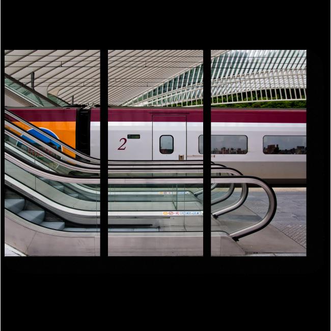 Модульная картина Эскалатор и поезд