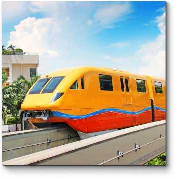 Модульная картина Современный поезд