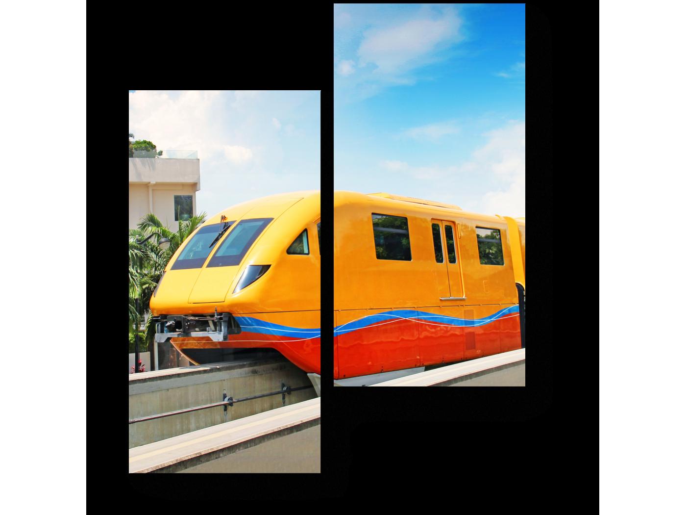 Модульная картина Современный поезд (40x50) фото