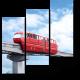 Красный монорельсовый поезд