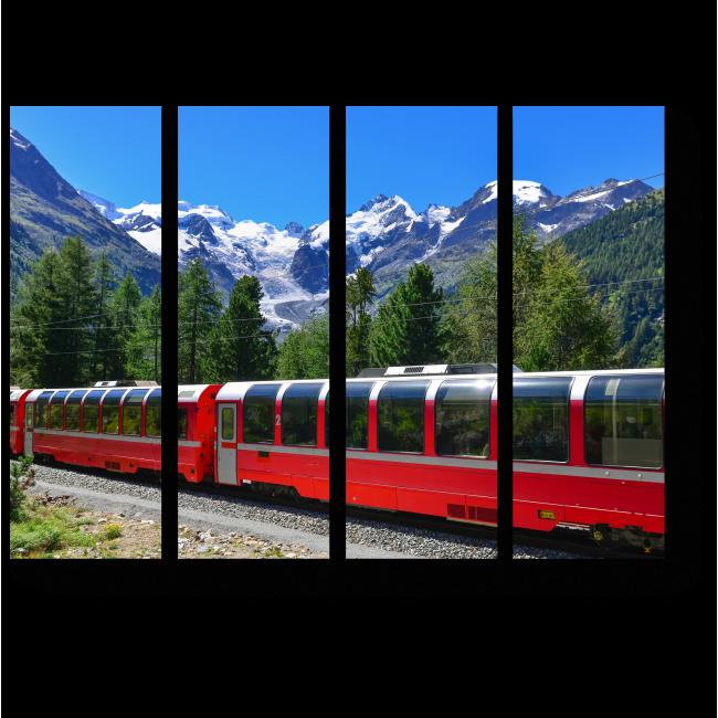 Модульная картина Экспресс пересек Альпы