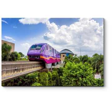 Модульная картина Экспресс монорельсовый поезд