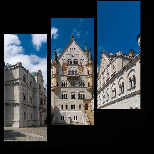 Модульная картина Замок Нойшванштайн