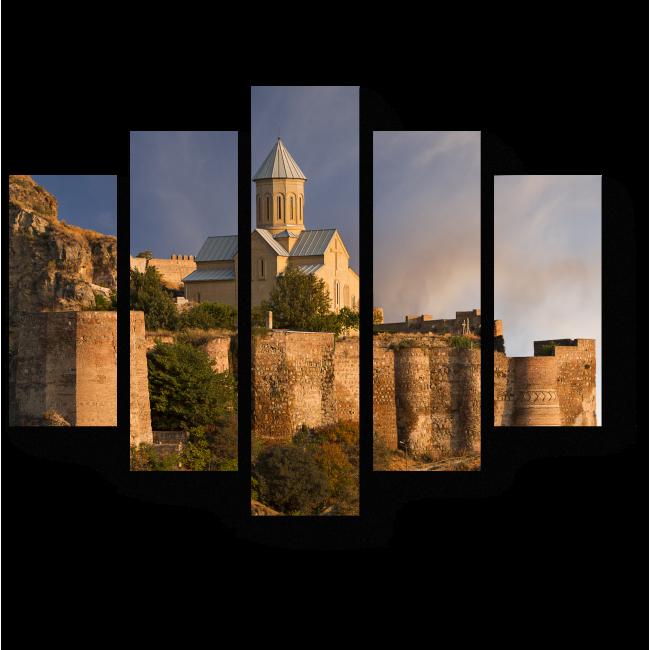Модульная картина Крепость Нарикала в Тбилиси