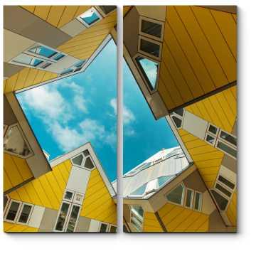 Модульная картина Футуристическая архитектура