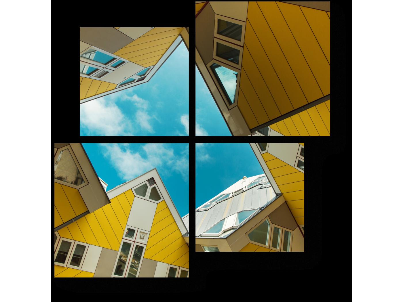 Модульная картина Футуристическая архитектура (50x50) фото