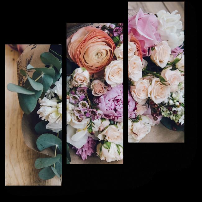 Модульная картина Весенний букет цветов