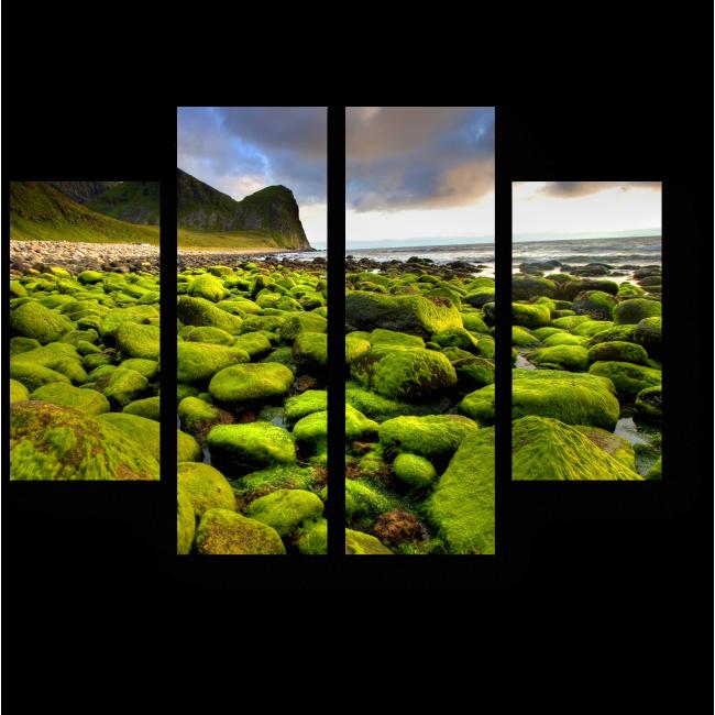 Модульная картина Необычный берег Норвегии