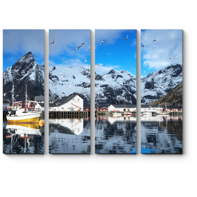 Модульная картина Весна в Норвегии