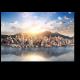 Небоскребы Гонконга на фоне великолепного заката