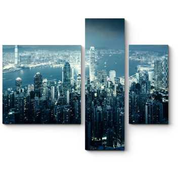 Модульная картина Волшебство ночного Гонконга