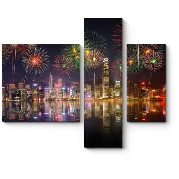 Сверкающий салют над бухтой Гонконга