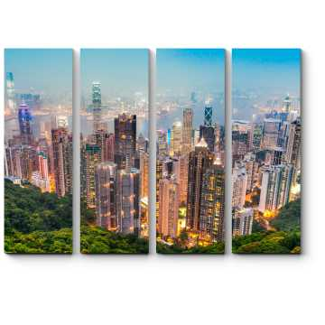 Модульная картина Панорама Гонконга