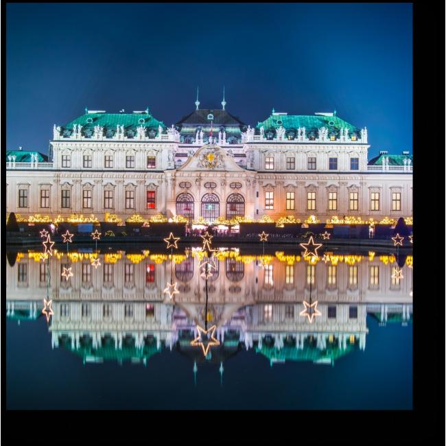 Модульная картина Рождественская ночь в Вене