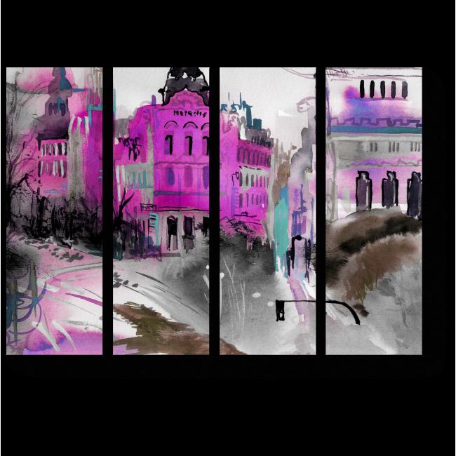 Модульная картина Яркие краски Вены