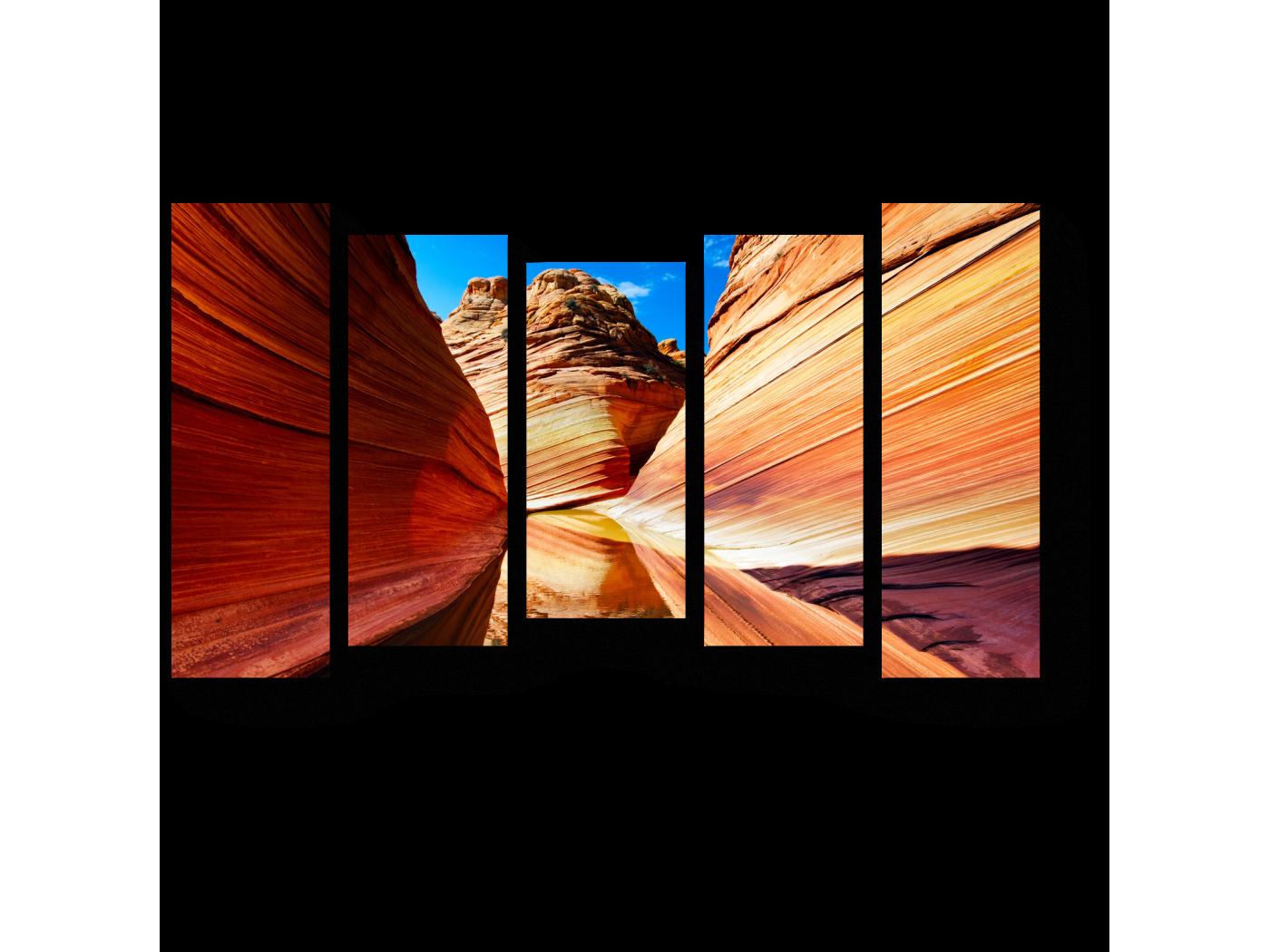 Модульная картина Каньон в лучах солнца (90x54) фото