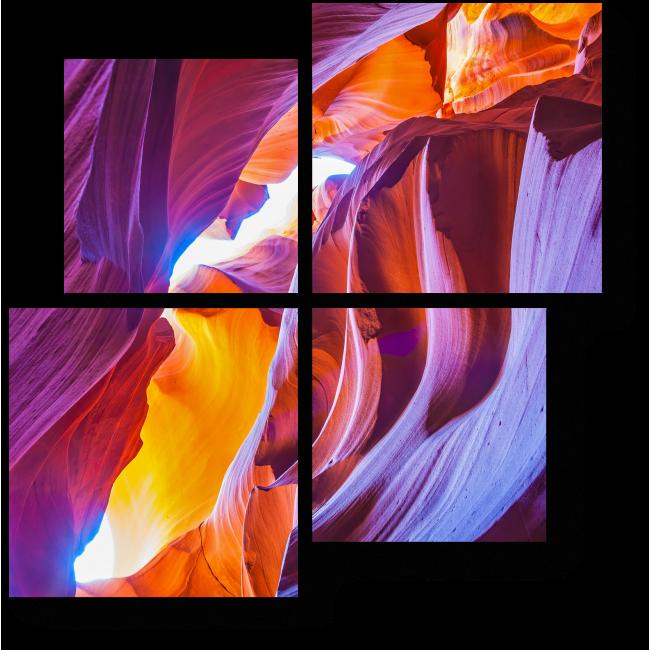 Модульная картина В сердце каньона
