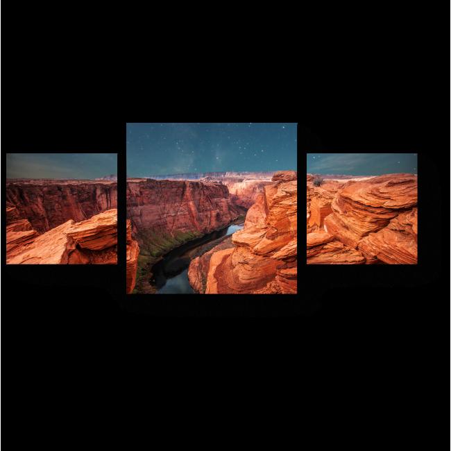 Модульная картина Звездная ночь в каньоне