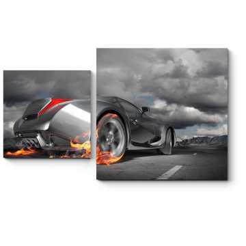 Модульная картина Оригинальный дизайн автомобиля