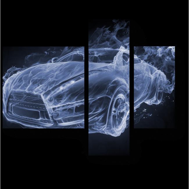 Модульная картина Car-smoke