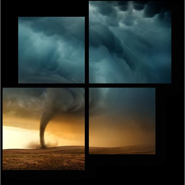 Модульная картина Ветер разгулялся