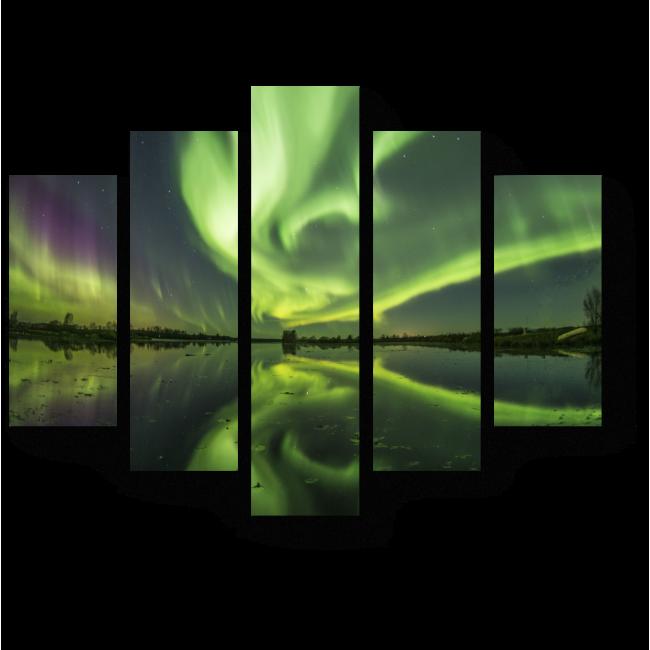 Модульная картина Ночное свечение неба