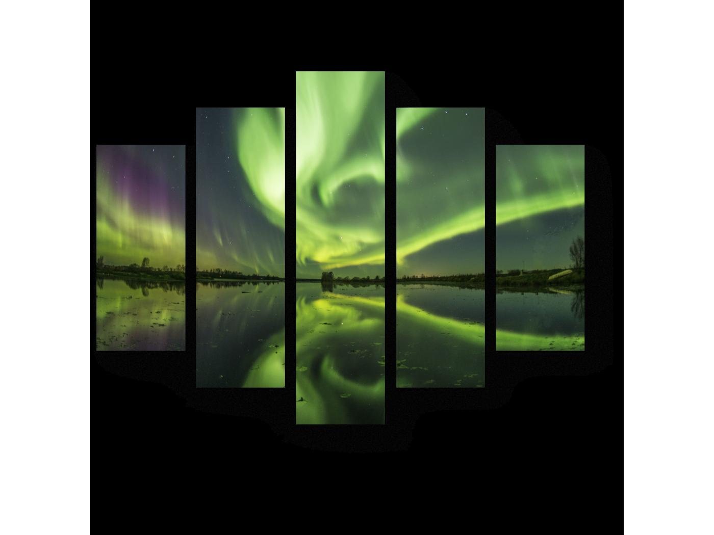 Модульная картина Ночное свечение неба (75x60) фото